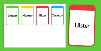 Provinces of Ireland Flashcards - roi, irish, republic of ireland, provinces, flashcards