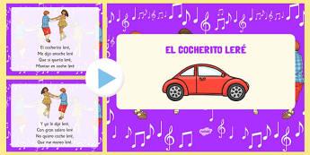 Canción El cocherito leré PowerPoint - canción, song, nursery rhymes, presentation, el cocherito