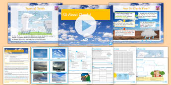 All About Clouds Lesson Pack - Clouds, Weather, Evaporation, Condensation, Cirrus, Cirrocumulus, Cirrostratus, Altocumulus, Altostr