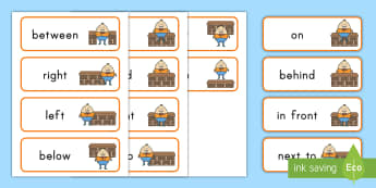 Humpty Dumpty Positional Word Cards -  nursery rhymes, Preposition of position, location words