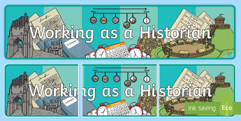 Working as an Historian Display Banner - ROI - The World Around UsWAU,Irish, history, historian,