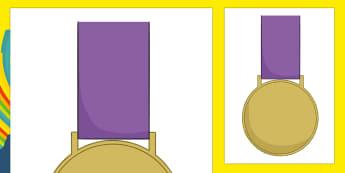 Olympic Display Gold Medal - usa, america, olympics, 2016 olympics, rio 2016, rio olympics, display, gold medal