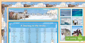 A Journey to the Arctic Display Pack - artic, arctic, North Pole, bunting, banner, lettering, display materials,
