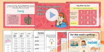 PlanIt Y1 Term 1A W4: 'ng' and 'nk' Spelling Pack