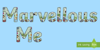 Marvellous Me Display Lettering - all about me, ourselves, back to school, My family, It's good to be me