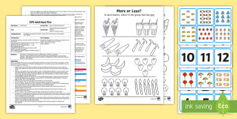EYFS Same or Different Amount? Adult Input Plan and Resource Pack - Mathematics, Numbers, Counting, Compare, More, Less, Fewer, Same, Amount, Early Years Planning, Adul