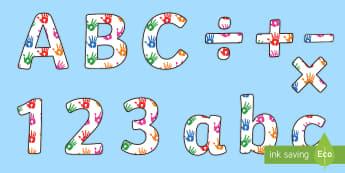 Funky Fingers Display Lettering - play dough, handwriting, fine motor skills, hands, eyfs ks1