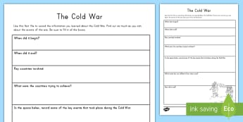 Cold War Research Fact File - Cold War, USA, United States, Russia, Soviet Union, Conflicts, Wars, American History