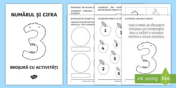 Numărul și cifra 3 Broșură cu activități - matematică, numere, numărul, cifra, 3, clasa pregătitoare, broșură, activități, mulțimi,Roma