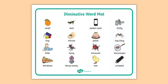 Diminutive Word Mat