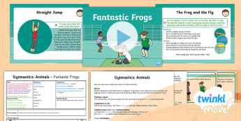 Twinkl Move - Y1 Gymnastics: Animals Lesson 4 - Fantastic Frogs - Key Stage 1, KS1, Year 1, Y1, PE, Physical Education, exercise, sport, Plans, Warm-up, cool-down, Gy