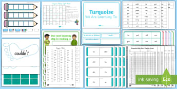 Turquoise Sight Words Resource Pack - NZ, Literacy, sight words, reading, writing, New Zealand, word lists, word games, high frequency wor