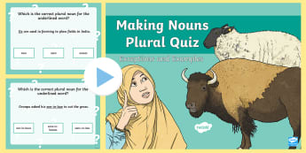 Making Tricky Nouns Plural PowerPoint - powerpoint, grammar, nouns, plural, tricky, English, quiz, vocabulary, word work