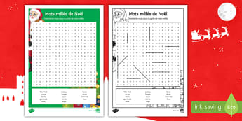Christmas Differentiated Word Search