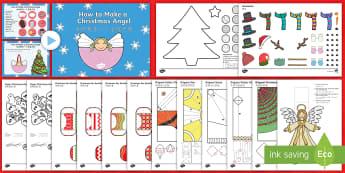 Christmas Paper Craft English/Mandarin Chinese - Christmas Craft and Paper Model Pack - christmas, craft, pack, chritmas, chriatmas, christms, christ