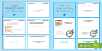 UKS2 Winter Paralympic Games Maths Challenge Cards - Problem Solving, Reasoning, Fluency, Mastery, Word Problems, Year 5, Year 6, South Korea, Pyeongchan