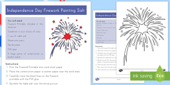 Independence Day Firework Painting Salt Craft - 4th July, July 4th, American Independence, 4th of July craft,fireworks, craft