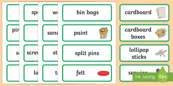 DIY Word Cards - D.I.Y, role play, do it yourself, word card, flashcards, cards, building, home, home improvement, hammer, saw, nails