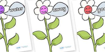 Next 200 Common Words on Flowers - Next 200 Common Words on  - DfES Letters and Sounds, Letters and Sounds, Letters and sounds words, Common words, 200 common words