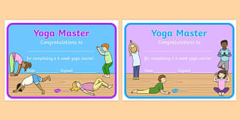 6 Week Yoga Course Certificates - 6 week, yoga course, certificates
