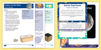 EYFS Space Science Experiments Resource Pack - Space, moon, planets, stars, solar system,