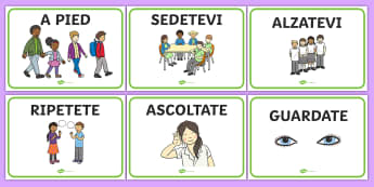 Italian Class Management Signs - Good manners, good behaviour, class management, behaviour management, SEN, polite, indoor voice - which classroom area?