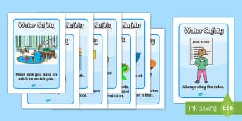 Water Safety Display Posters - Water safety, Water, safe, poster, display, summer, water danger, safety , water