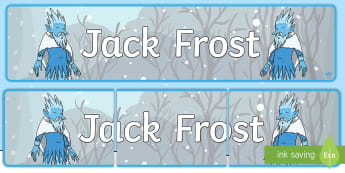 Jack Frost Display Banner - display, banner, winter, Jack Frost, seasons, myths, stories, bulletin board