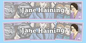 Scottish Significant Individuals Jane Haining Display Banner - Scottish significant individual, Christian, missionary, Holocaust, Jewish, Auschwitz