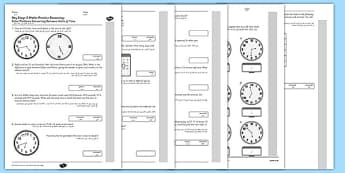 KS2 Reasoning Test Practice Measurement Time Arabic Translation - Key Stage 2, KS2, Reasoning, Test, Practice, Measurement, Time