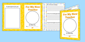 For My New Teacher Transition Booklet - transition, booklet