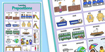 Prepositions Poster - prepositions, poster, display poster, class display, literacy display, english display, poster for display, classroom display, prepostions