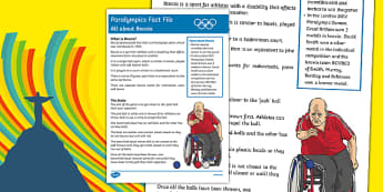 Rio Paralympics 2016: All About Boccia Fact File