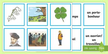 La fête du 1er mai Cartes pour jeu de paires - Le 1er mai, cycle 2, cycle 3,  KS2, 1st May, fête du travail, muguet, labour day, pair cards, carte