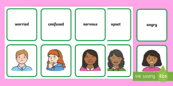 Emotions Matching Cards - emotions, feelings, ourselves, matching