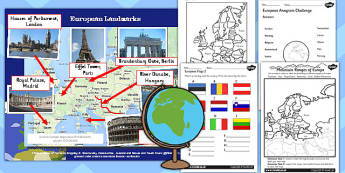 Introduction to Europe Lesson Teaching Pack - european, geography