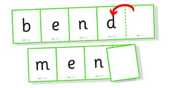 Phase 4 CVC CVCC Words Folding Strips- phase four, phase 4, CVC, folding strips, CVC strips, phase four strips, phase four games, word strips