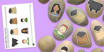 Baa Baa Black Sheep Story Stones Image Cut-Outs - Story stones, stone art, painted rocks, Nursery Rhymes, song