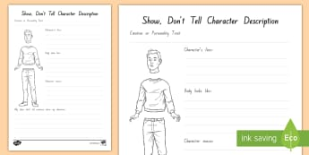 Show, Don't Tell Sentences Activity Sheet - show don't tell, descriptive writing, writing, literacy, paint a picture