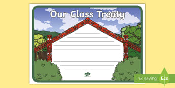 Our Class Treaty Display Poster - Waitangi, Treaty, Charter, Contract, Back to School