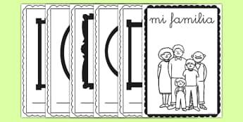 Cuadernillo - Mi familia - padre, madre, hermano, abuelo, parientes, árbol de familia, escritura, dibujo