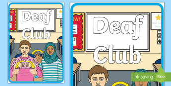 Deaf Club Display Poster - deaf world, deaf culture, deaf awareness, deaf aware, hearing impaired, deaf bingo