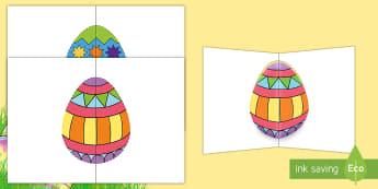 Pop-Up Easter Cards - easter, easter pop-up, easter cards, easter holidays, easter resources, easter cards, end of term, e