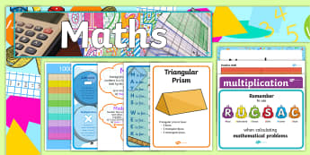 ROI Third and Fourth Class Maths Working Wall Display Pack - posters, numeracy, mathematics, third class, fourth class ,Irish, math area, interactive