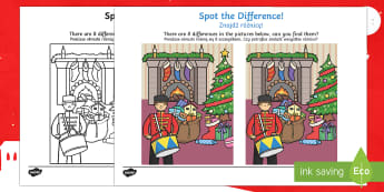 Toy Soldier Spot the Difference English/Polish - Toy Soldier Spot the Difference - spot the difference, differences, toy soldier, game, fun, activity