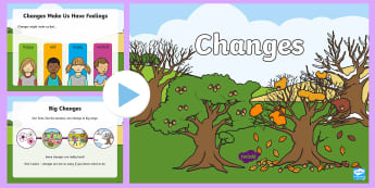Changes! PowerPoint - Change, Family, Friends, School, Home, Support, Help, pshe, Scottish
