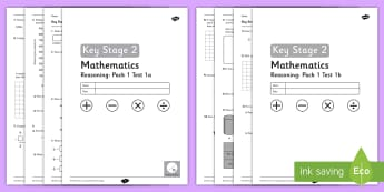 KS2 Reasoning pack - maths, year 6, sats, assessment, progress, word problems,