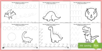 Dinosaur Pencil Control Activity Sheets English/Mandarin Chinese - Dinosaur Pencil Control Activity Sheets - dinosaurs, dinosaur pencil control worksheets, dinosaur th