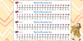 Number Lines 0-20 to Support Teaching on Dogger - numeracy, line, numbers, tool, dogger