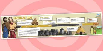 Bronze Age Timeline - bronze age, timeline, visual aid, history